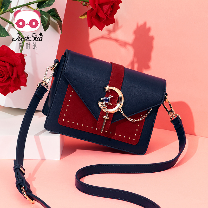Oxner Baggage Girls 2019 New Fashion Single Shoulder Baggage Recreational Slant Baggage Girls Small Baggage Autumn and Winter Girls