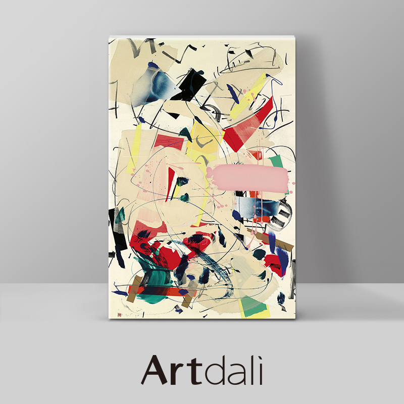 Art Dali Hallway Abstract Art Painting Modern Simple Corridor Decorative Painting Restaurant Vertical Oil Painting-Movement