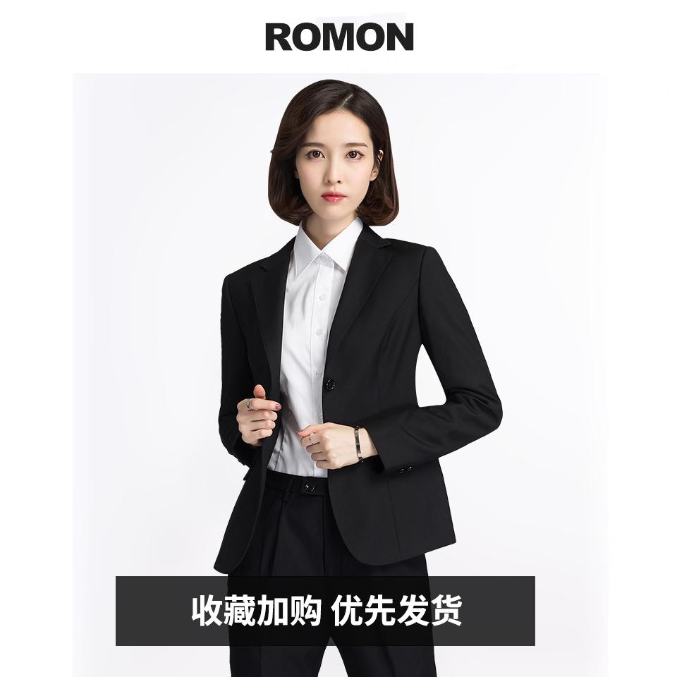 Lomond 2021 womens suit suit dress casual professional dress spring and autumn work black small suit jacket