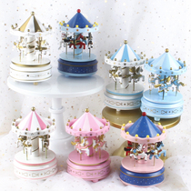 Carnta music box octa-tone box cake decoration ornaments for the birthday gifts of boys and girls online red.