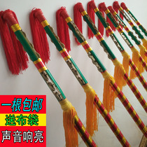 Square Dance ring hit money pole bully whip stick money Lotus Xiang Stick nine Whip copper stick compartment dance stick