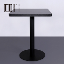 Lalo Black small Square Table meeting room reception negotiation table fast food double table 2 people coffee table