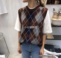 Miss purchasing t hedge school in the autumn wind knitting vest