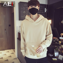 Institute of solid street fashion trends Joker wind hooded leisure sweater