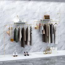 Special-shaped clothing display rack Womens shop special shelf wall hanging nano gold hanging clothes rod hanging display rack