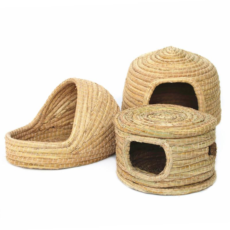 Кролик теплая трава гнездо морских свинок гнездо домашних животных поставок кролик гнездо голландские свиньи теплые гнезда ухо кролика травы комнате