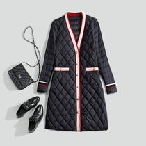 Hong Kong counter 2021 Winter new womens wear size fashion white duck down jacket long loose coat
