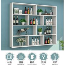 Wine cabinet rack storage shelf shelf red wine rack display wall wall hanging against the wall cup holder home living room dining room