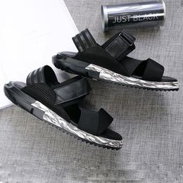 ADDS y 3 Летние мужские сандалии новые натуральная кожа толстым дном Личности открытым носком покроя туфли римские сандалии Мужской прилив