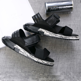ADDS y3男式凉鞋夏季新款真皮厚底个性露趾休闲防滑罗马凉鞋男潮