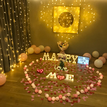 led trunk of a romantic surprise love proposal props birthday arrangement ideas supplies letter-color string lights decorative