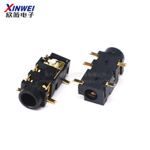 Cheap headphones seat PJ3027A 3 5 posted headset socket Xin Wei electronic PJ-327A gold-plated