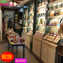 Retro cosmetics display cabinet Korean skin care products showcase European paint shelf mask showcase nail polish showcase