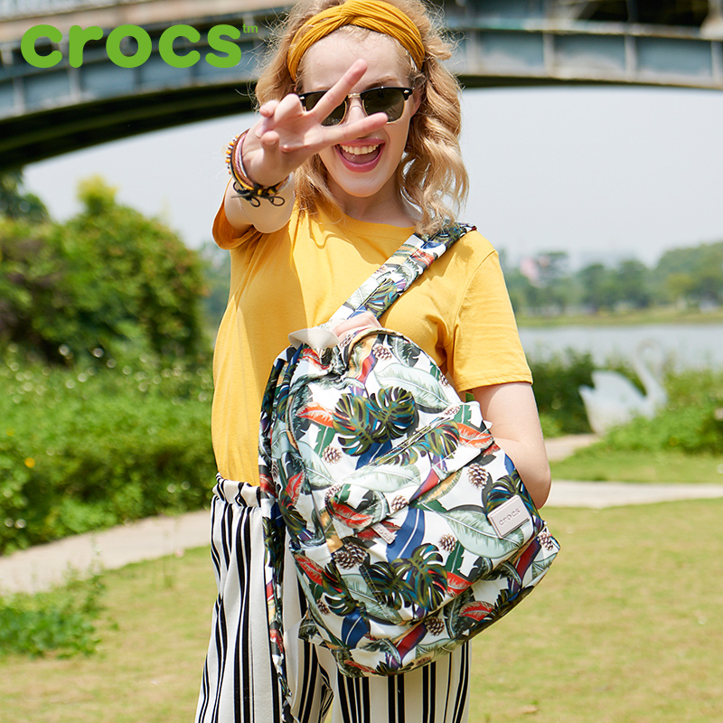 American crocs bag female 2018 canvas casual shoulder print light nylon bag backpack shoulder bag female