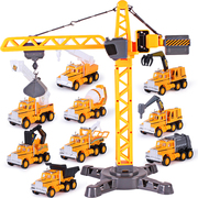Excavators, toys, excavators, cranes, cranes, boys, suits, engineering cars, children