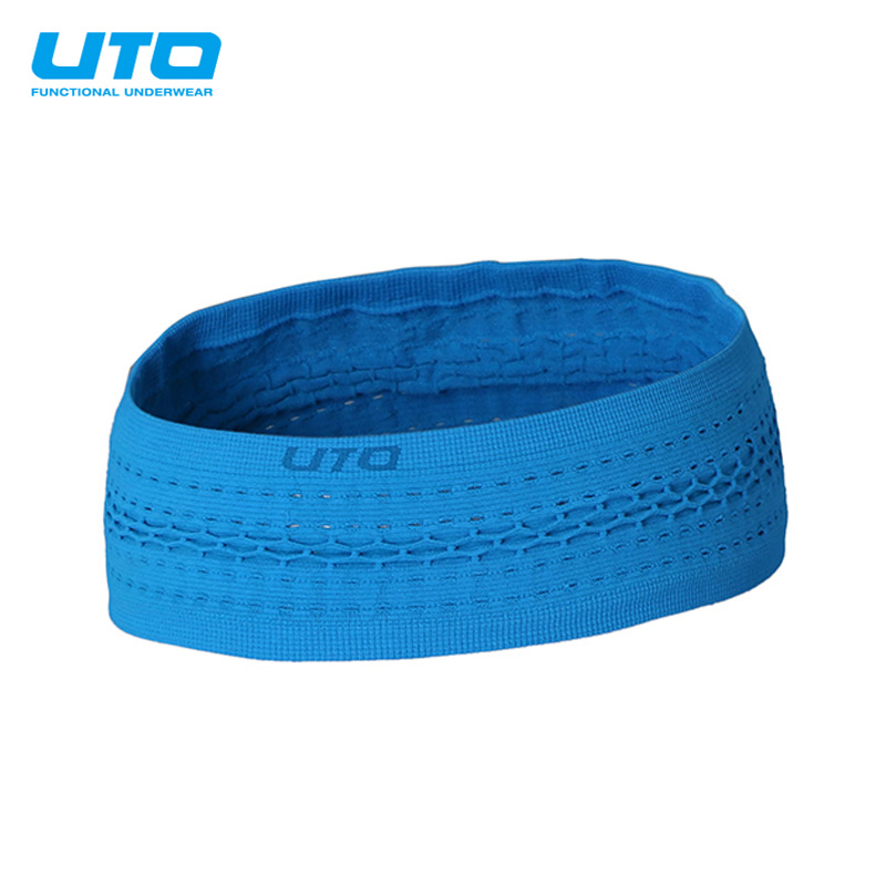 Uto leisurely outdoor sports headband male and female hair band running fitness antiperspirant sweat absorbent sweat headband