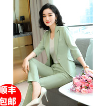 JOVKATTI high-end suit suit womens summer fashion temperament large size thin section professional work clothes two-piece tide