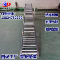 No power drum line pipeline conveyor belt drum unloading slide conveyor conveyor belt Drum unloading Oracle