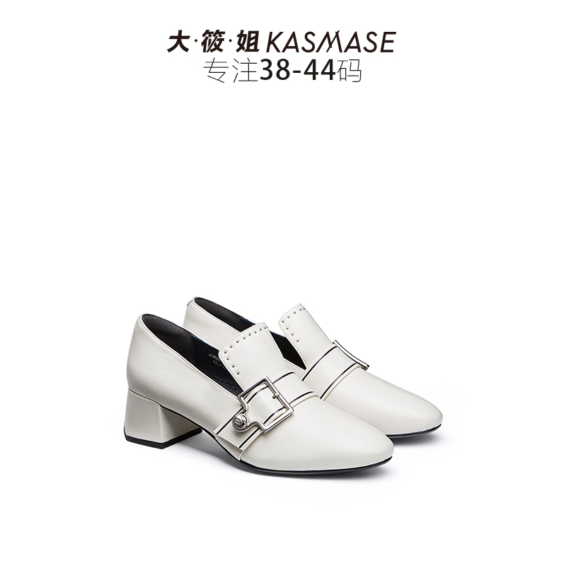 Big sister in the single shoes female Mary Jane small shoes autumn fashion temperament thick with large size women's shoes word buckle shoes