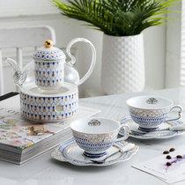 Английский послеобеденный чай керамический фруктовый горшок кофейник набор с фильтрованным черным чаем цветок чай набор свечи отопления.