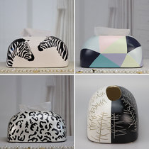 Dai creative simple tissue box modern home decoration hand-painted living room dining paper pumping box home napkin box