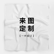 To figure custom silk scarf silk square scarf logo scarf shawling scarf diy hand drawing case custom creative gift
