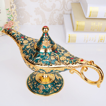 Russian ornaments metal alloy large Aladdin lamp home wish lamp gift European home decoration products