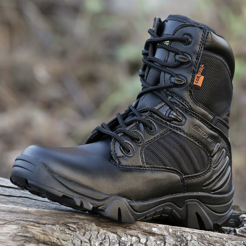 Military boots male special forces combat boots outdoor high to help desert tactical boots wear-resistant land boots hiking shoes military enthusiasts shoes boots