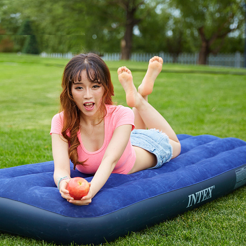 [The goods stop production and no stock][The goods stop production and no stock]INTEX inflatable mattress single inflatable bed double household air bed outdoor camping tent inflatable cushion