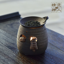 Japans original imports often slip-burning climbing cat tea incense oven refreshing brain incense oven ceramic decoration