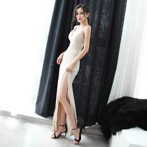 Deep V-collar fish tail sexy slim Party dress