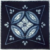 Fine Yunnan fabric Dali ethnic style tie-dye cloth Grass blue dye hanging cloth Square cotton cloth tablecloth square towel