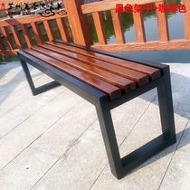 Park Chair Outdoor bench anticorrosion casual row chairs bathroom long chair rest Iron bench balcony solid wood bench