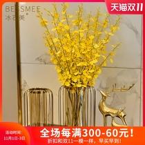美式创意花瓶摆件轻奢风仿真干燥花客厅餐桌电视柜现代家居软装饰品