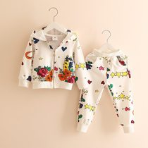 South Korea purchasing baby flower set 2020 spring Korean version of the new childrens clothing childrens clothing childrens jacket pants tide