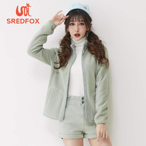 Saidan Fox outdoor velvet clothing women wind protection warm leisure sports Korean version of the climbing trend couple cold jacket man