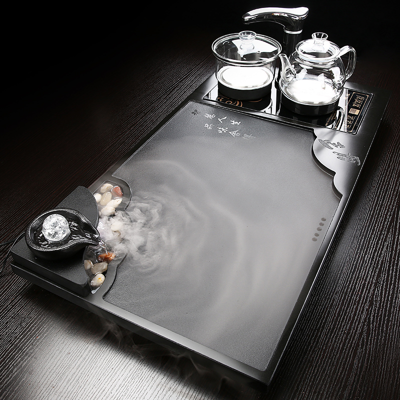 Atomized flowing tea plate set home the whole oojin stone one simple modern tea sea automatic large tea table
