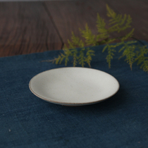 Dust-free handmade ceramics promotion Plain Moon white Cup saucer
