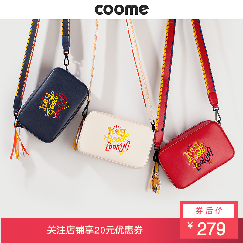 Coome Cute Bag Girl 2019 New Broadband Camera Bag Slant Bag Chao Girl Bag Single Shoulder Bag Large Capacity