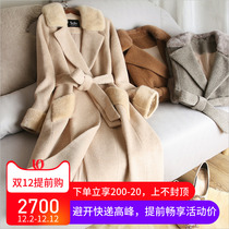 Mink coat Female Whole mink medium 2018 new high-end Albaka double-sided sheep camel lockhorse coat