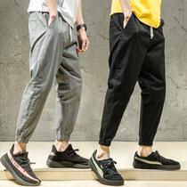 秋季男士束脚韩版潮流宽松小脚工装裤