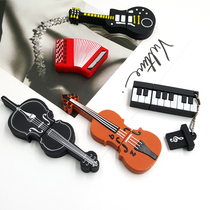 Creative Guitar USB disk 32g girl cute u disk violin piano microphone u disk car Student Mini USB disk