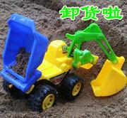 The large children's excavator can be ridden with a boy, an engineering car hook machine and a child excavator 7514