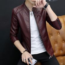 Men's jacket spring and autumn clothes Korean version trend, self-cultivation handsome young jacket men's jacket autumn and winter plus suede