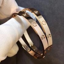 Card home bracelet 18k rose gold starry bracelet love couple classic wide version Valentines Day gift fashion