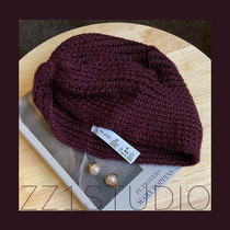39! Autumn and winter Europe and the United States ancient French-style foreign trade original single purple-red knitted wool cross India baotou hat