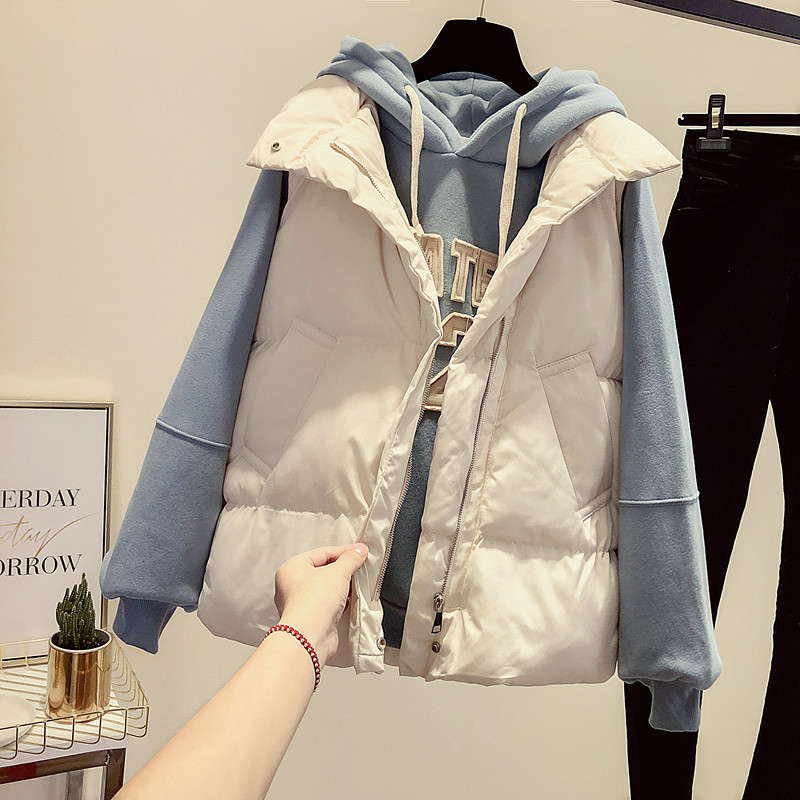 Down cotton vest women 2020 autumn and winter new Korean version of loose short models outside wearing a hundred-necked horse clip vest jacket