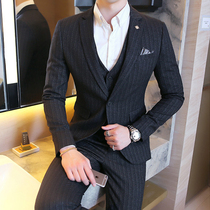 Mens youth Korean version of the handsome slim British suit suit