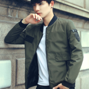 The new trend of Korean men's coats and 2017 slim handsome Baseball Jacket Mens Shirt in autumn