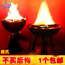Flame lamp mid-autumn day wedding bar KTV Decorative supplies led electronic brazier large simulation brazier lamp